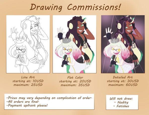 600x464 Drawing Commissions Splatoon Amino