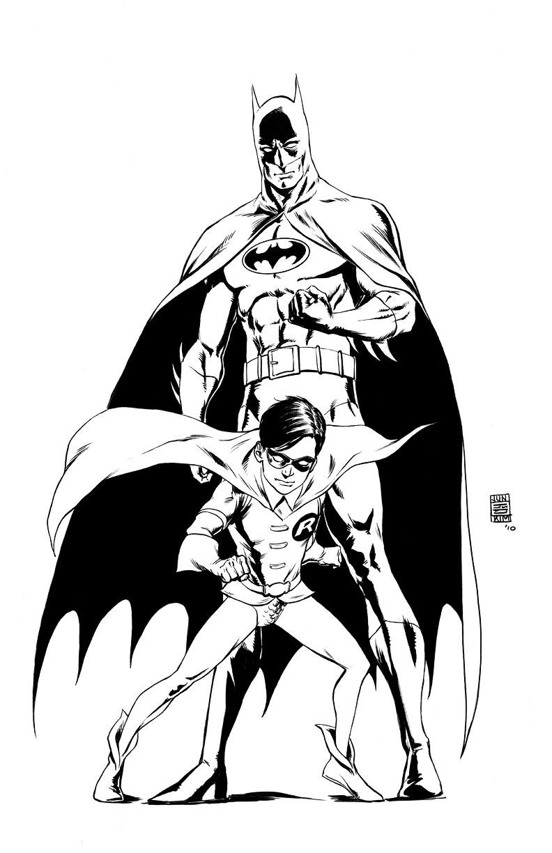 792x1224 Batman And Robin Drawing Classic Batman Amp Robin Jun Bob Kim