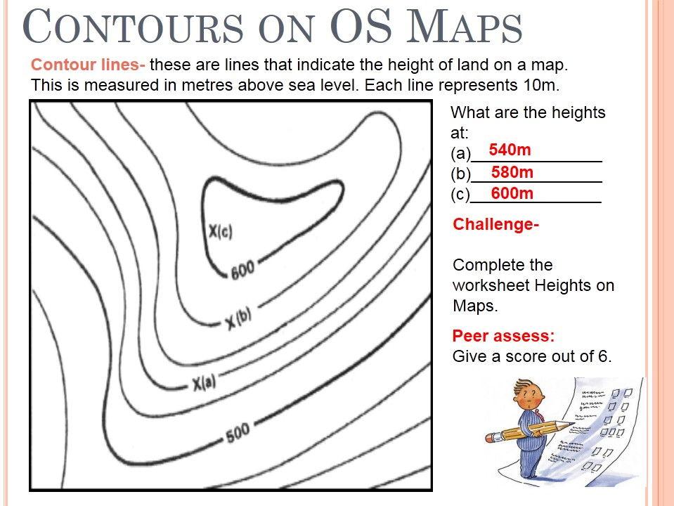 959x720 Contour Lines Worksheet