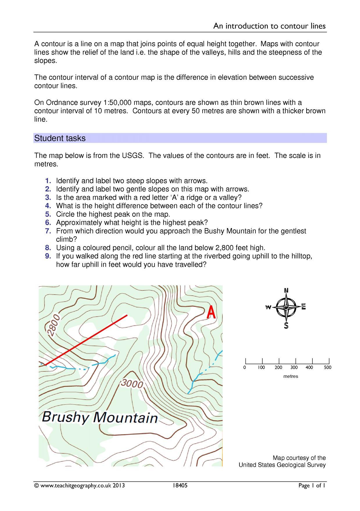 1239x1754 Drawing Contour Lines Worksheet Free Printables Worksheet