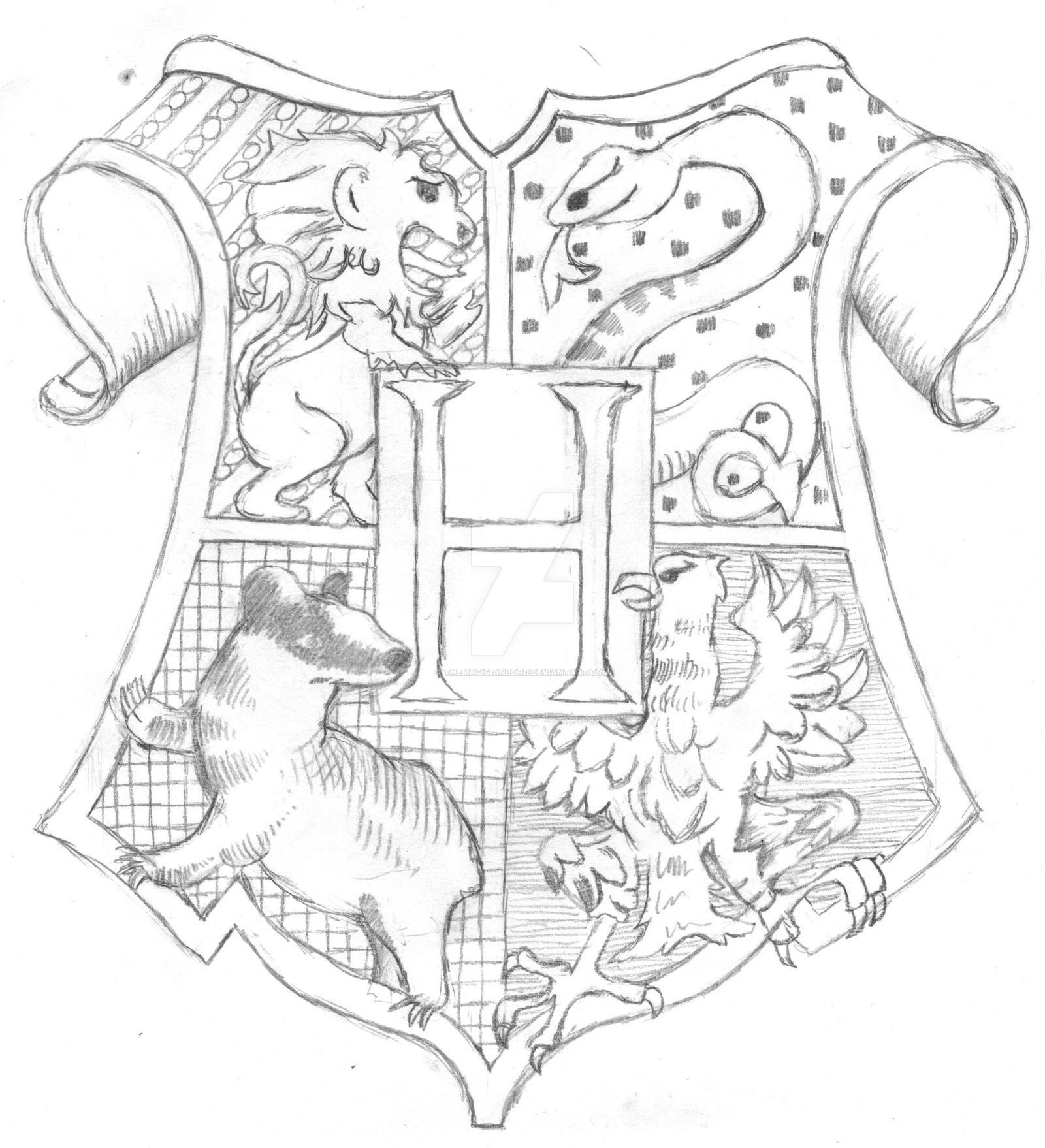 1600x1758 Harry Potter Coloring Pages Hogwarts Crest Copy Hogwarts Crest