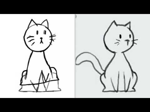 480x360 Trying To Draw Cat From Google But Fails Badly