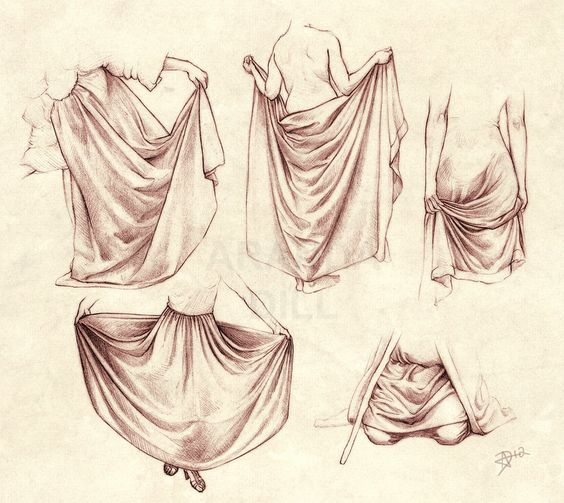564x503 Drawing Wrinkles, Folds, Drapery, And Pleats Reference Pages