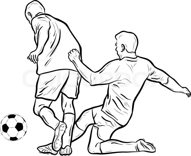 Drawing Football Players