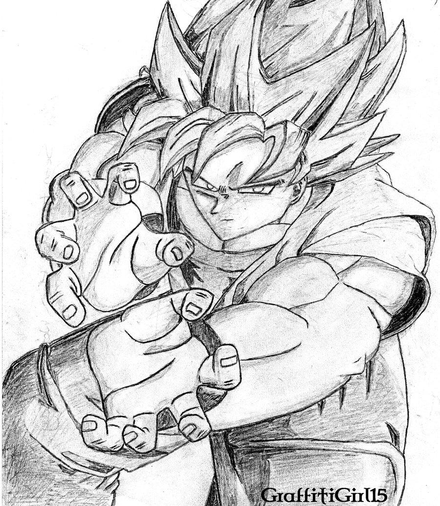 900x1035 Goku, My Boyfriend's Drawing By Graffitigirl15