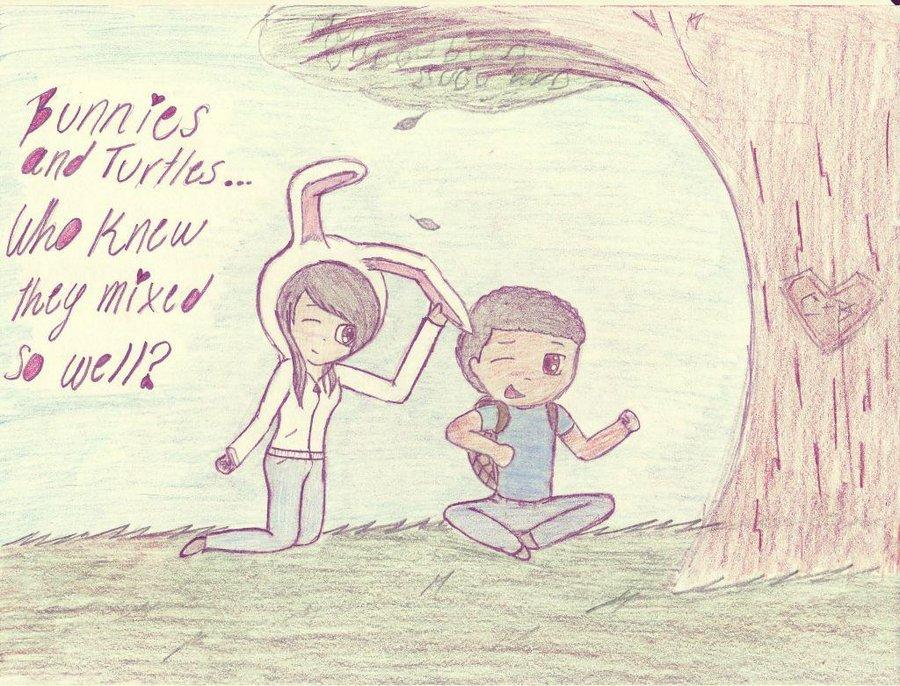 900x686 A Random Drawing Of Me And My Boyfriend ) By Enigmaticmusicfan