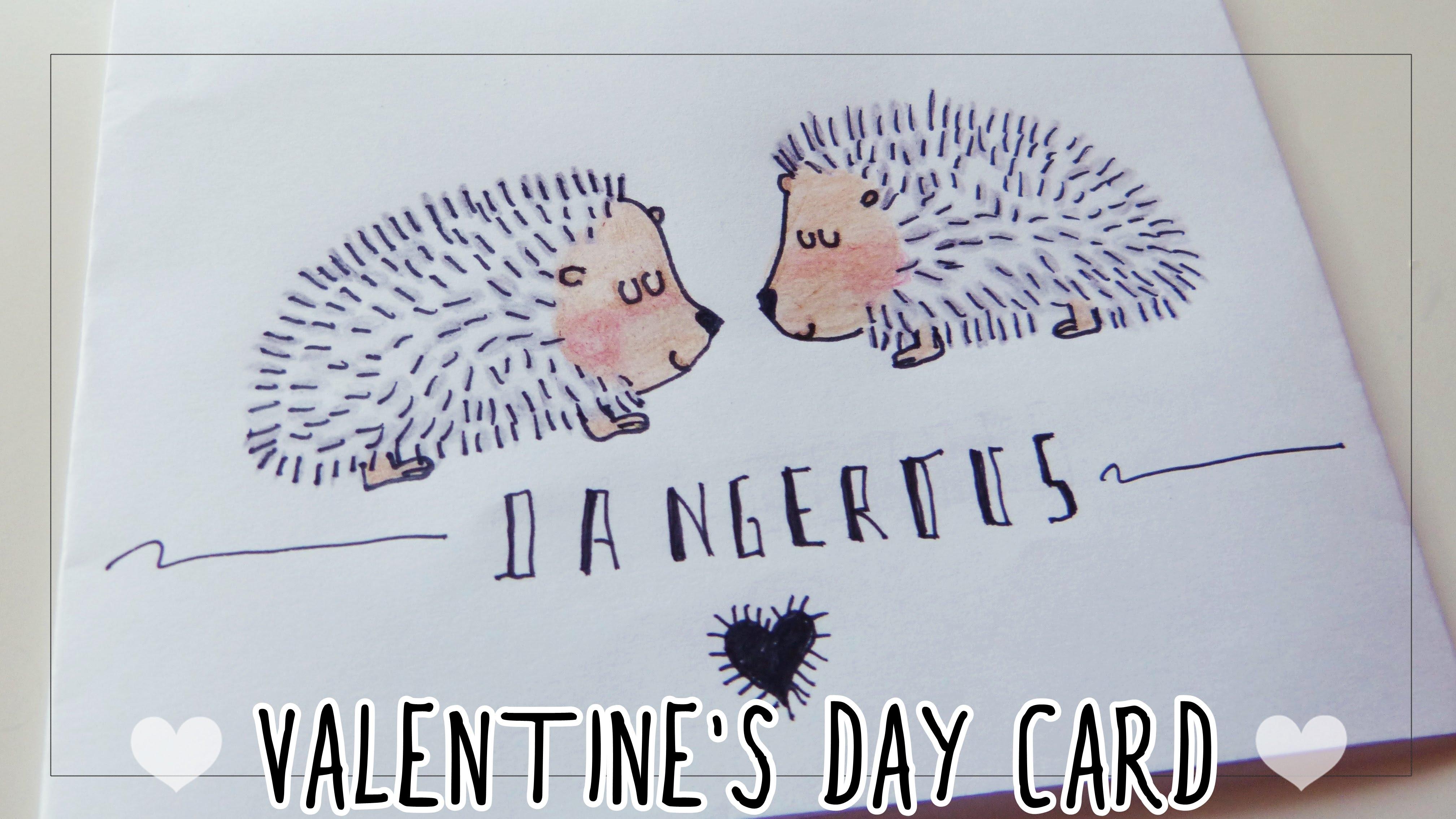 4033x2269 Valentine's Day Card For Boyfriend Drawing Hedgehogs