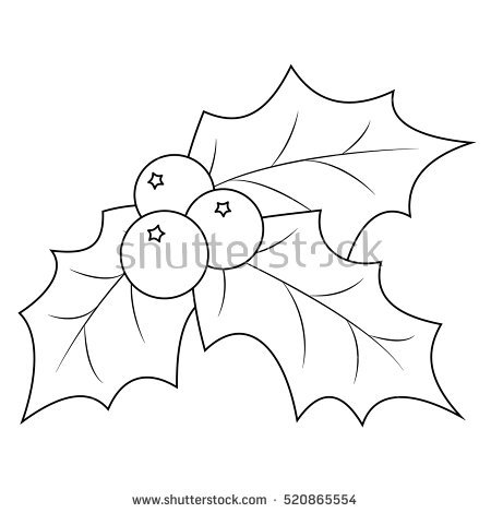 450x470 Holly Leaves And Berries Coloring Pages Holly Berries Clipart