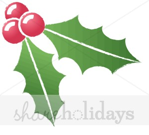 300x272 Simple Holly Berries Rough Edge Holly Clipart