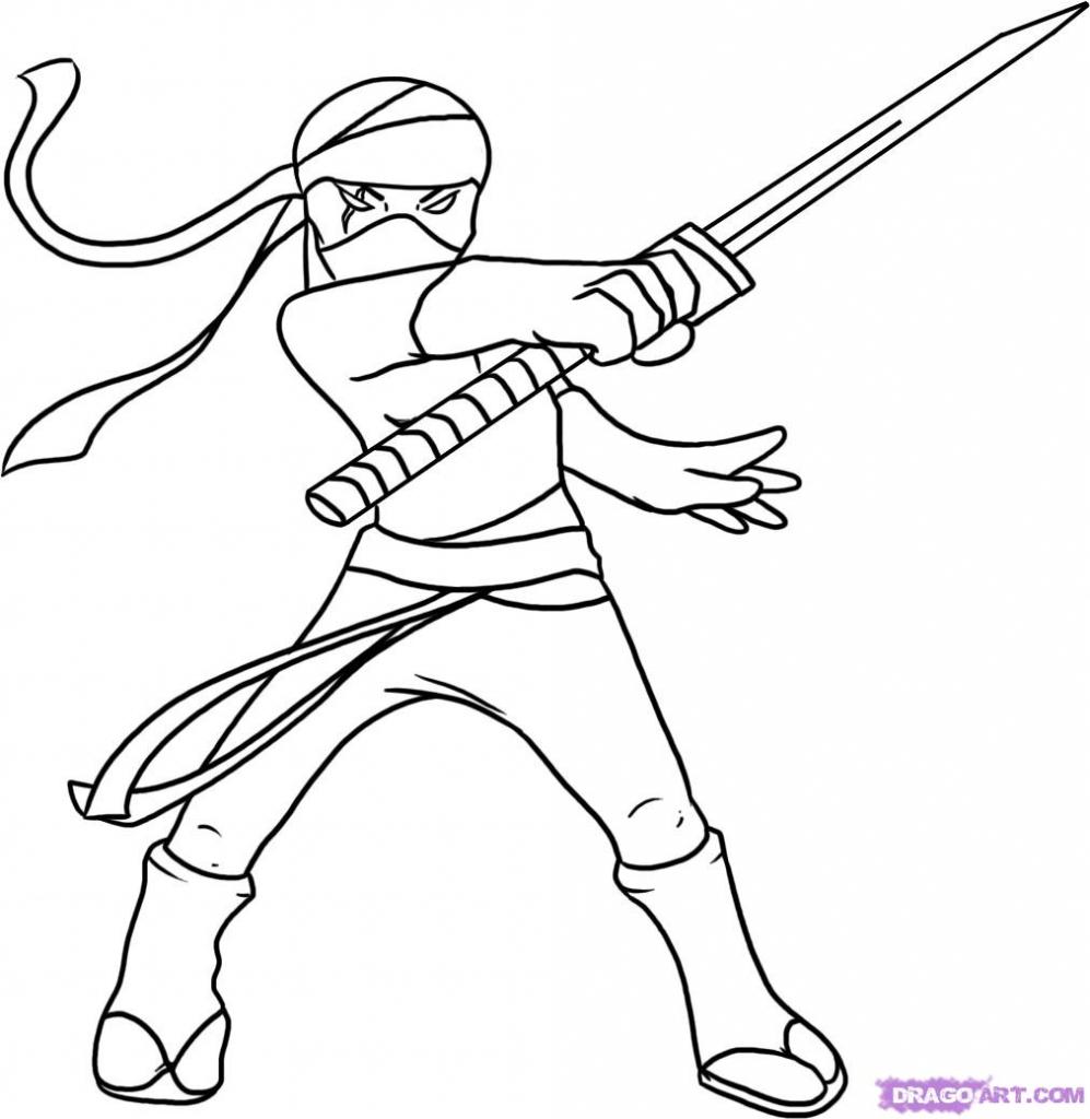 997x1024 Cartoon Ninja Drawing Cartoon Ninja Drawings How To Draw A Ninja