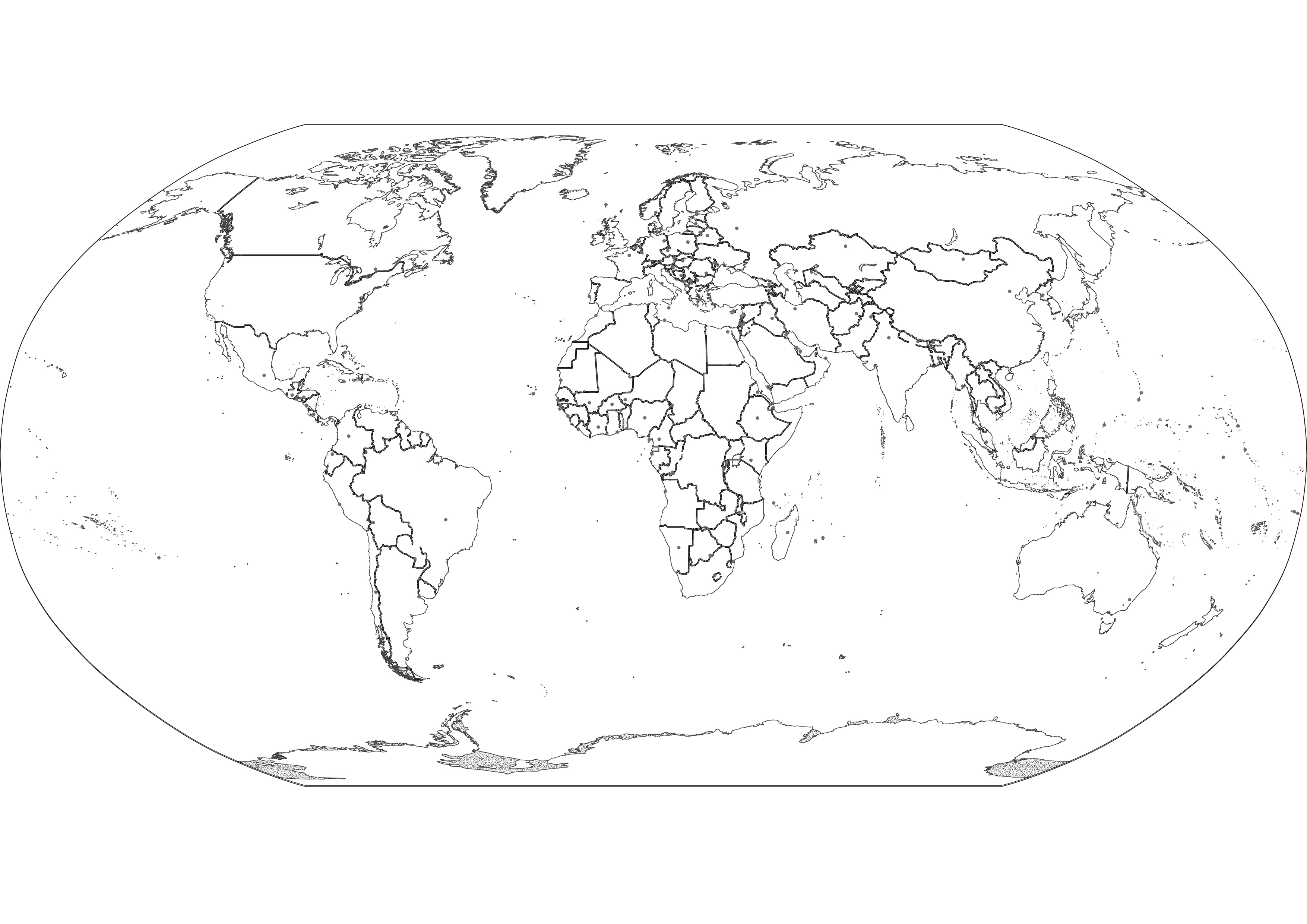 3508x2480 Ideas Collection World Map Outline With Countries Labeled On List