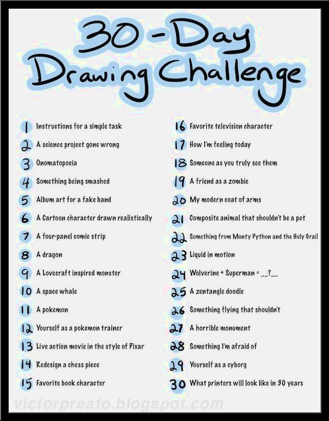 646x826 Collection Of List Of Drawing Ideas High Quality, Free