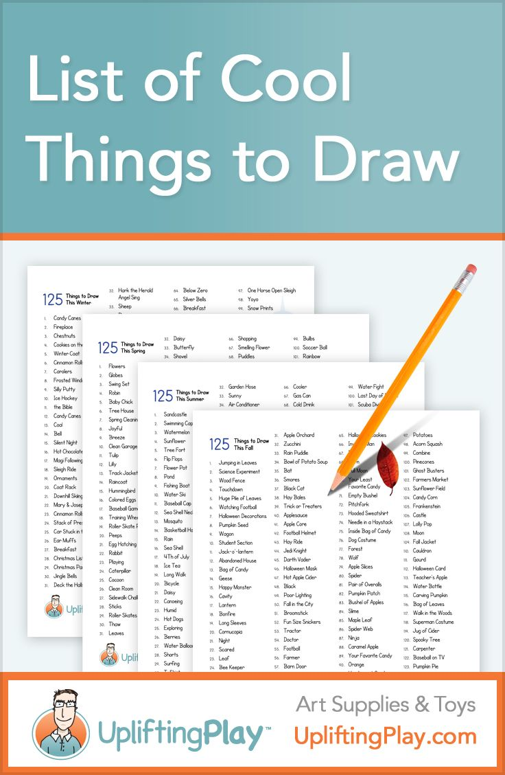 736x1128 List Of Things To Draw For Kids