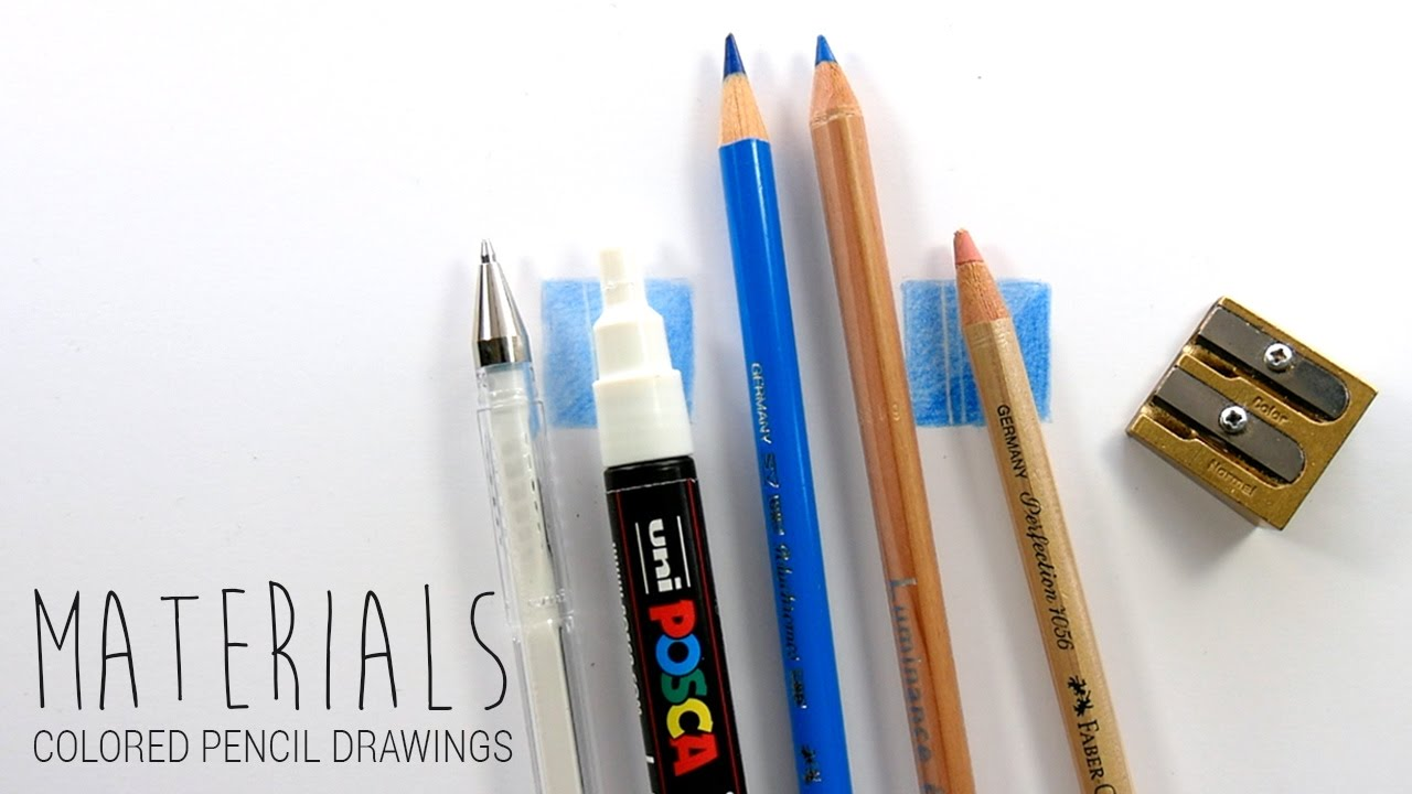 1280x720 Drawing Materialsart Supplies I Use For My Colored Pencil