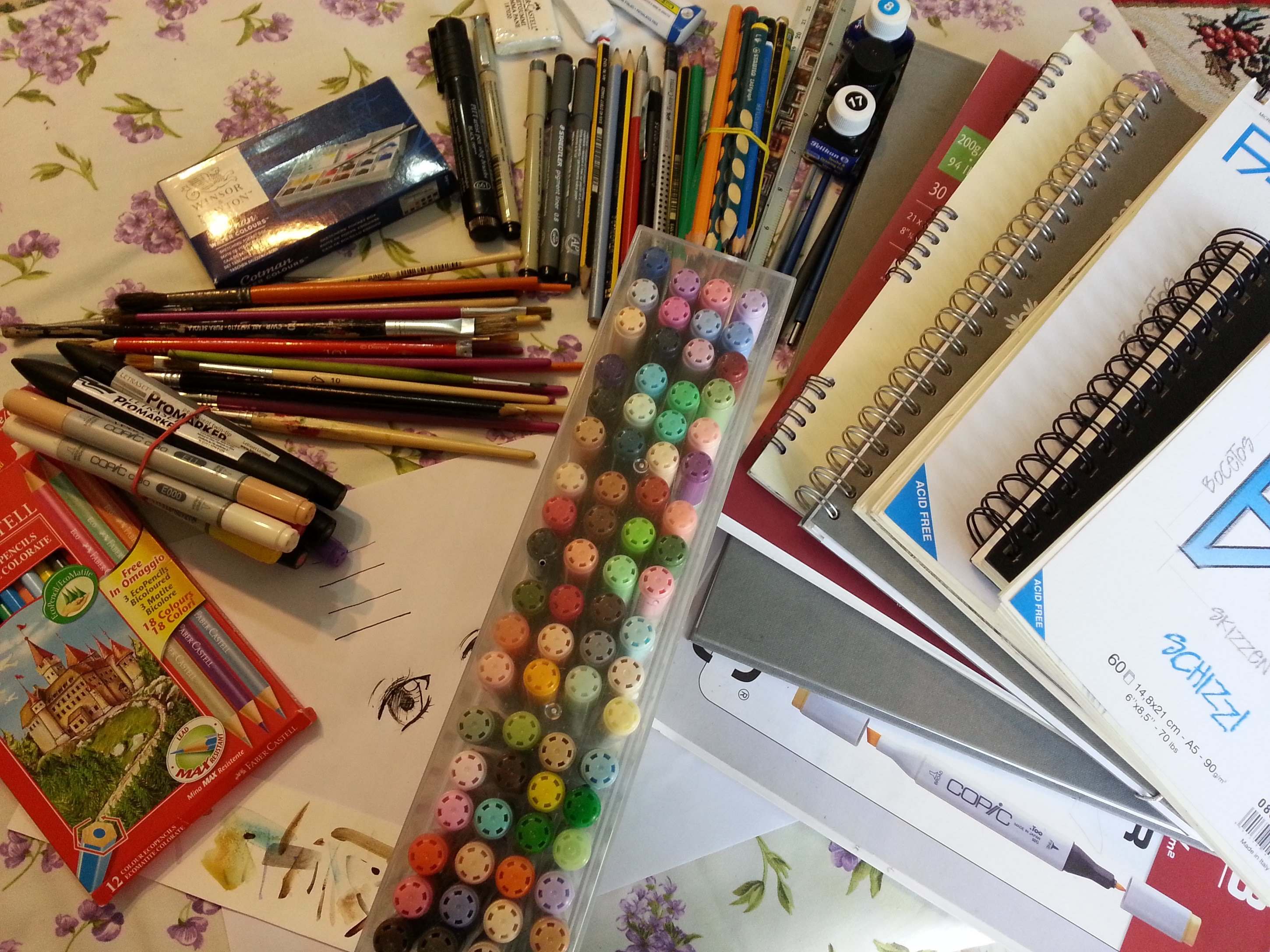 2900x2175 My Drawing Supplies And Materials