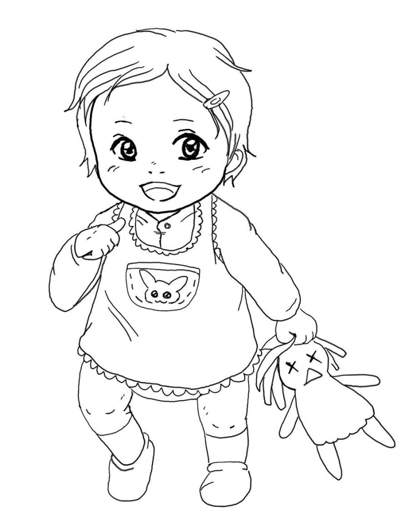 795x1024 Baby Girl Drawing Baby Girl Drawing Image Drawn Baby Sketch