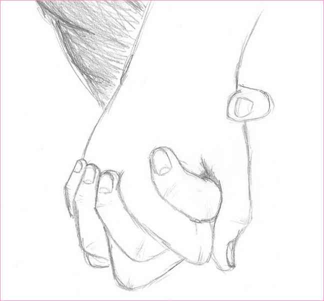 648x602 Drawing Of A Girl And Boy Holding Hands