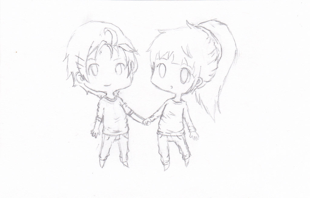 drawing of a girl and boy holding hands at getdrawings com free