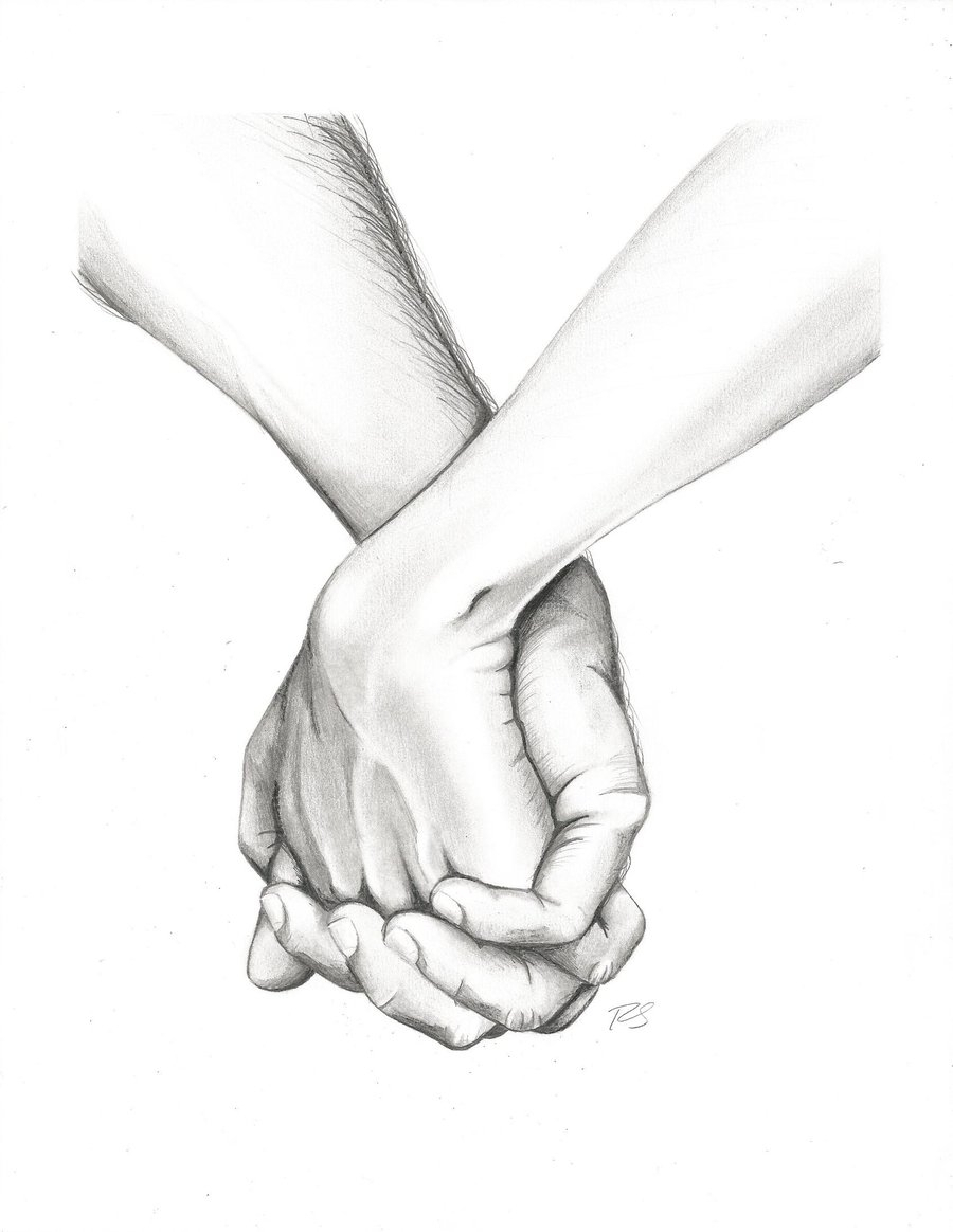 900x1164 Sketch Of Holding Hands