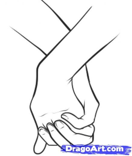 438x520 A Lot Of People Holding Hand Coloring Page Girl And Boy Holding
