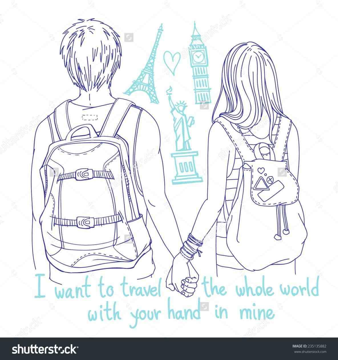 1185x1264 Boynd Girl Holding Hands Drawing Girlnd Boy Hold Hands On