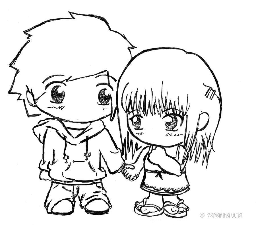 900x790 Chibi's Holding Hands By Samanthaulita