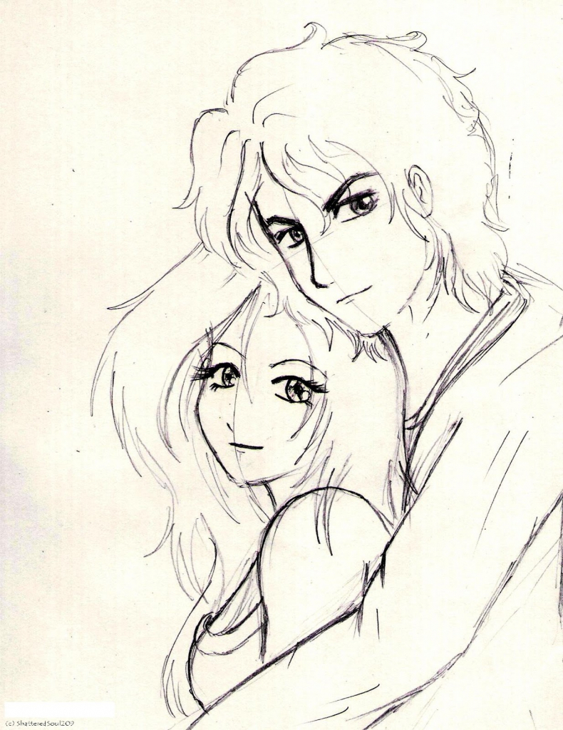 790x1024 Cute Sketches Of Lovers Boy And Girl Anime Holding Hands Drawing