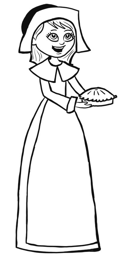 400x848 Learn To Draw A Pilgrim Girl For Thanksgiving With Josh
