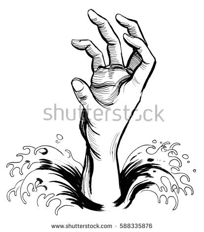 Drawing Of A Hand Reaching Out
