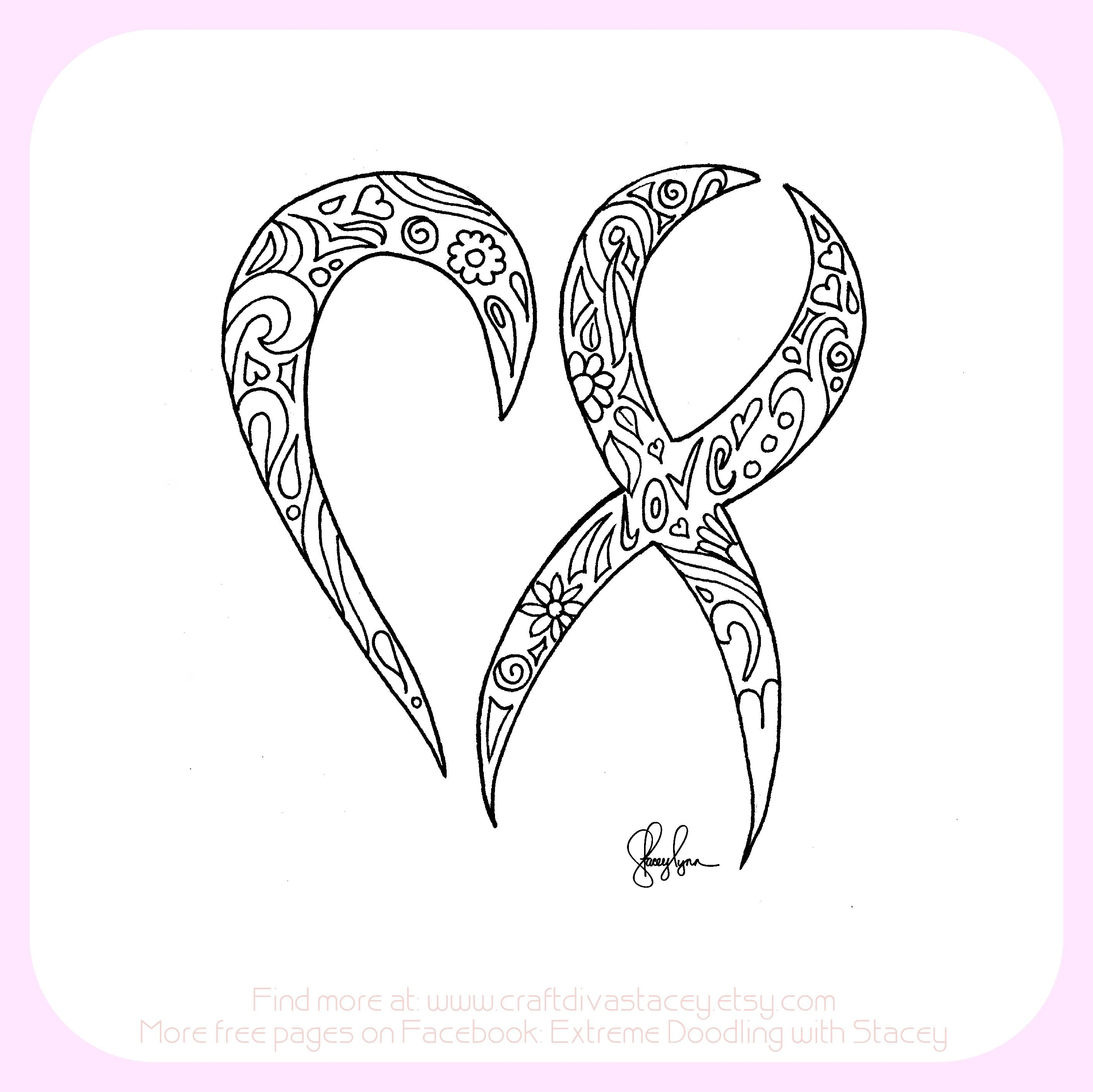 2824x2822 Ribbon Coloring Page Save Have A Heart For Cancer Cancer Ribbon