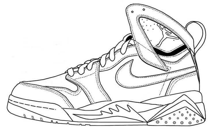 Drawing Of A Jordan Shoe