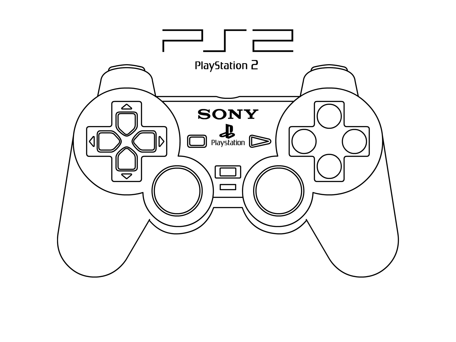 Drawing Of A Ps3 Controller
