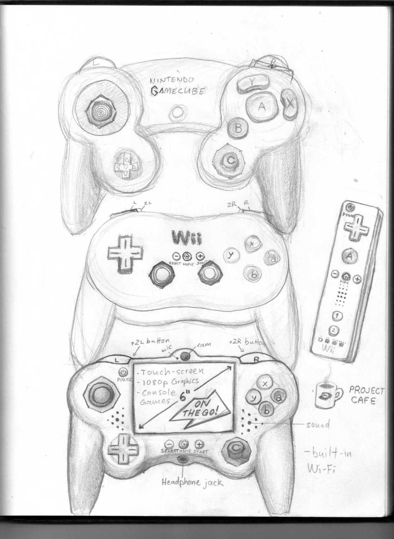 1275x1743 Ps3 Controller Drawing
