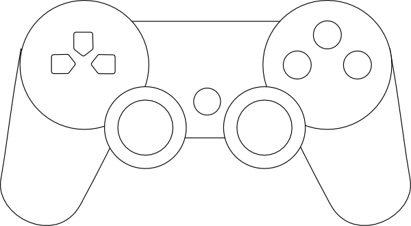 600x330 White Ps3 Controller Drawing