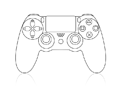 480x360 Ps4 Controller Coloring Page Ps4 Controller Drawing