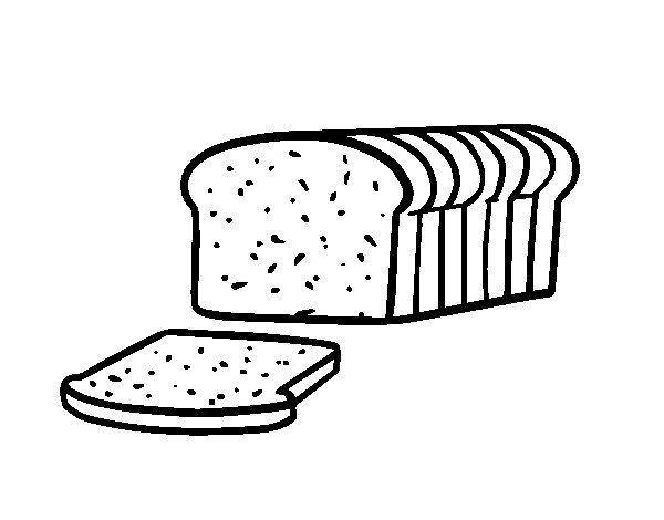 600x470 Bread Coloring Page