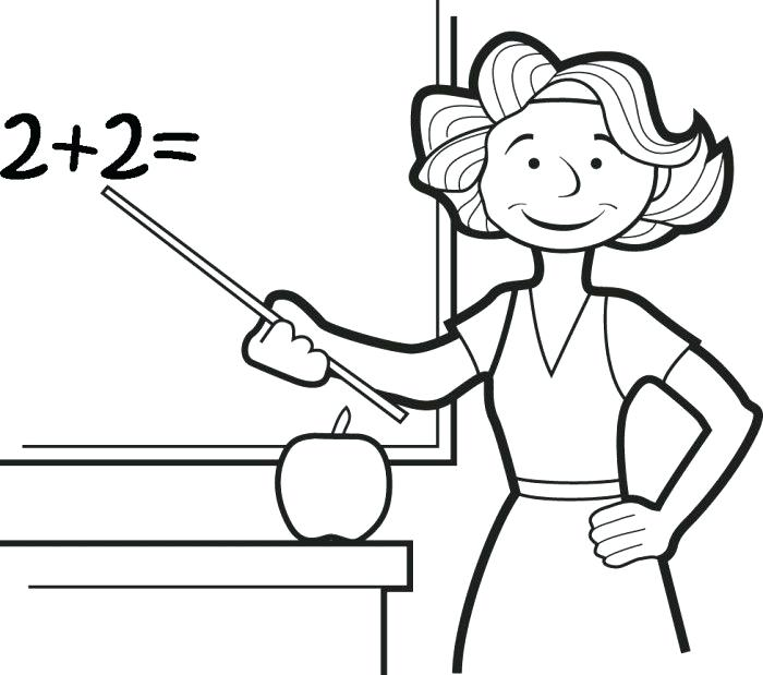 700x619 Education Coloring Pages Teacher Coloring Pages Teacher Coloring