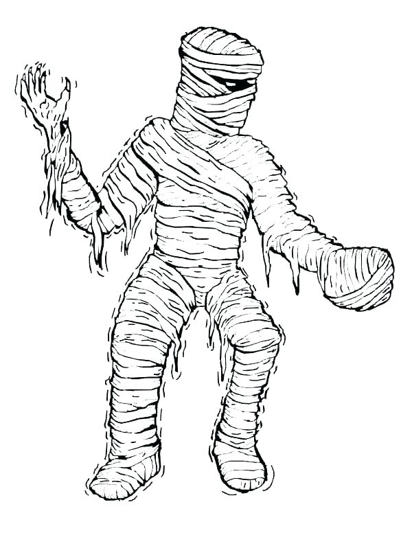 600x776 Egyptian Mummy Coloring Pages Ancient Colouring Mummy Coloring