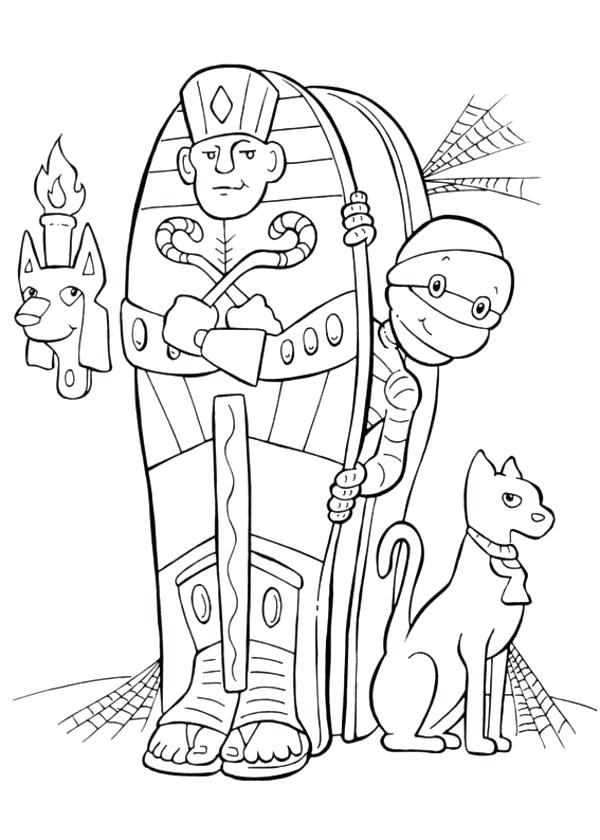 600x840 Egyptian Mummy Coloring Pages Of Case Template Fun Time And His