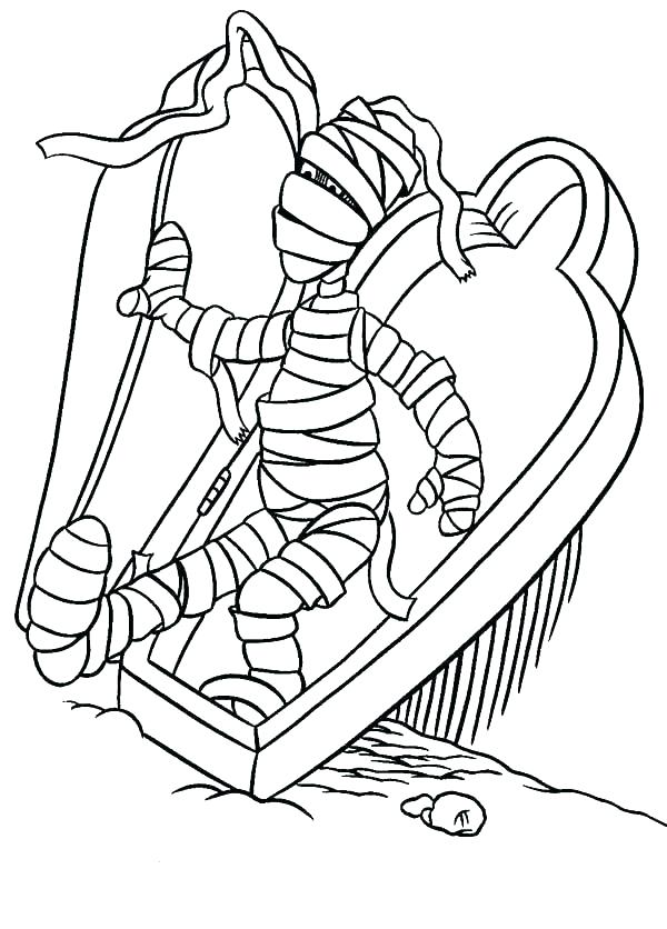 600x836 Egyptian Mummy Coloring Pages S Sheets Egypt Chantoyaser.win