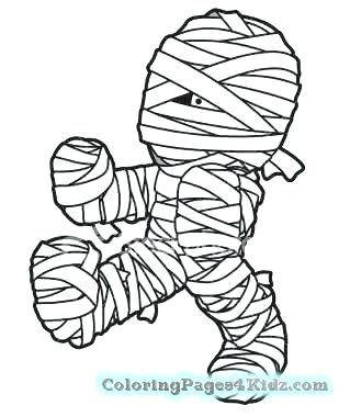 319x380 Mummy Coloring Pages Really Scary Mummy Free Coloring Page Ancient