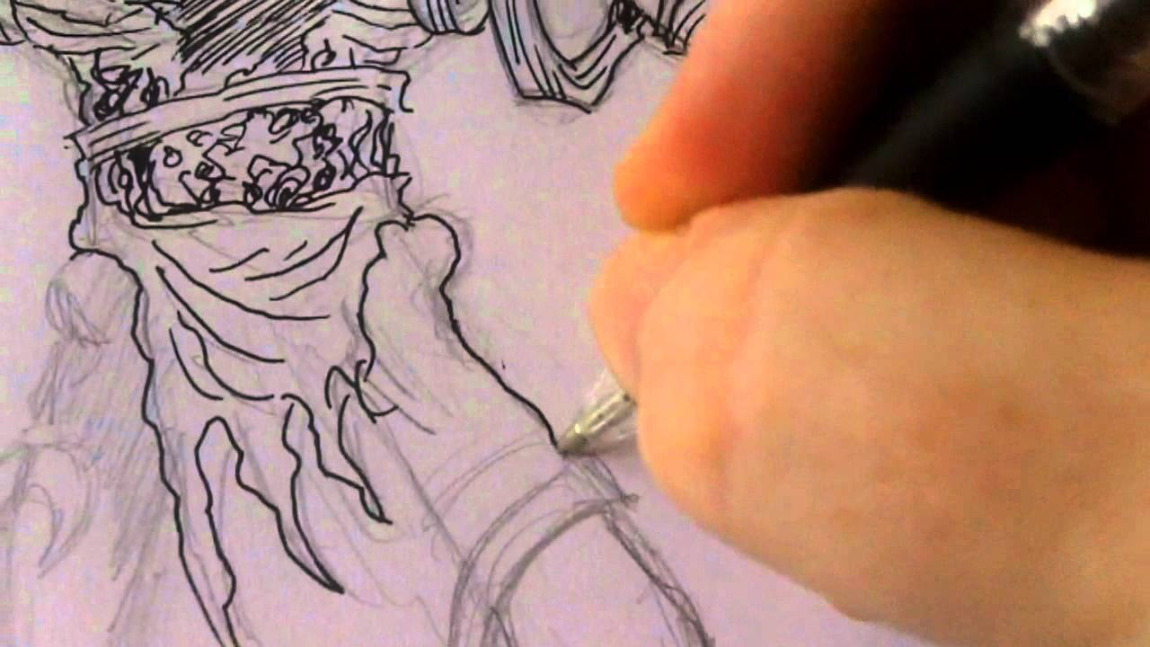 1280x720 How To Ink An Egyptian Mummy Drawing