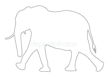 Drawing Of Elephants With Trunk Up