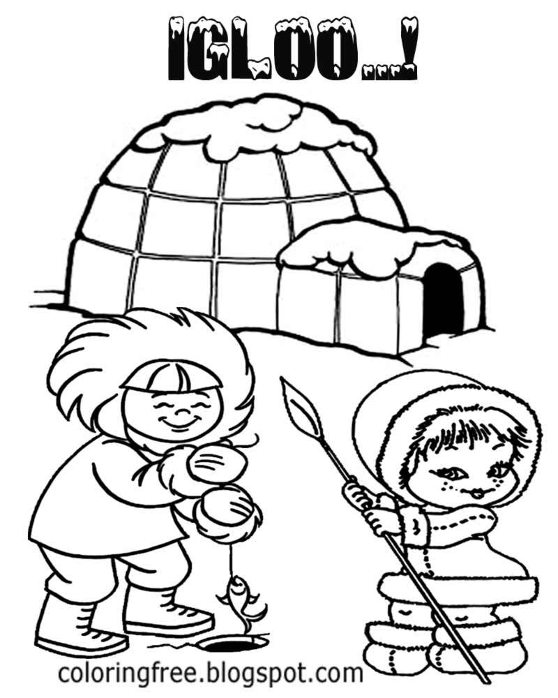 Inuit Art Coloring Pages - Master Coloring Pages