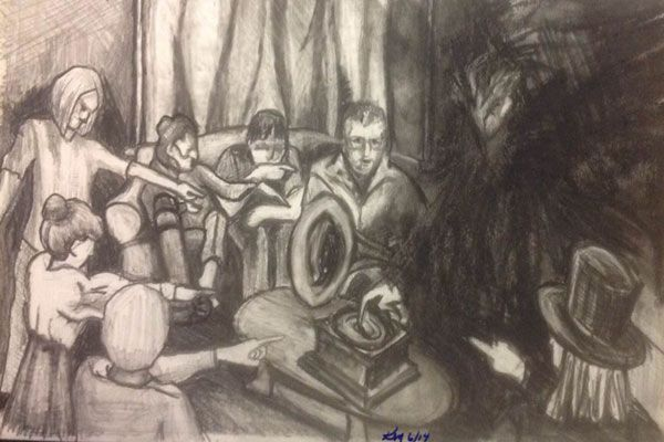 600x400 Evil Demon Drawing Welles House Demon Scene, Drawing By Kmanning