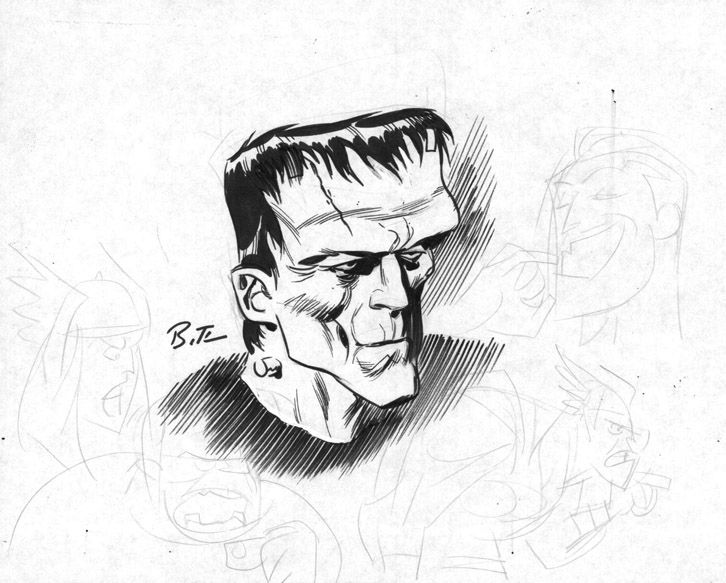 726x583 Frankenstein's Monster By Bruce Timm Bruce Timm