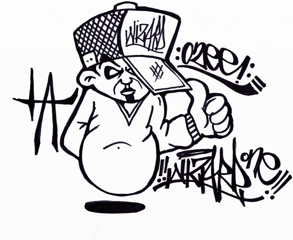 1024x838 Graffiti Art Characters Drawing Easy Graffiti Characters Drawings