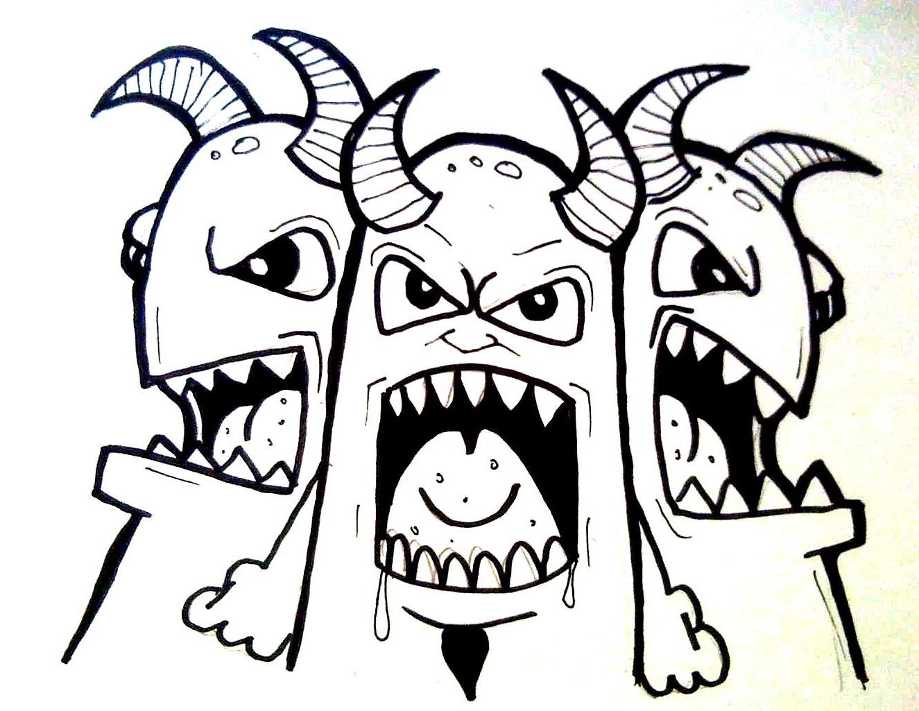 1325x1025 Graffiti Character Monster Sketch 3d Graffiti Character Monster