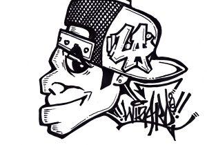 300x210 Easy Graffiti Characters Drawings Graffiti Wizard Easy Graffiti