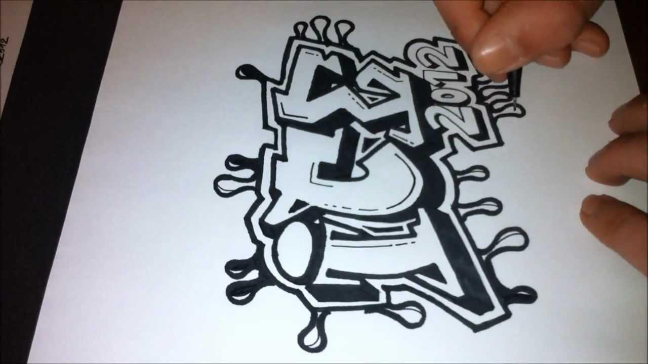 1280x720 Drawing Graffiti Letters